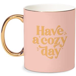 Have A Cosy Day Bone China Gold Handle Mug