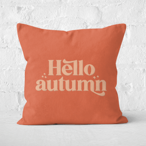 Hello Autumn  Square Cushion