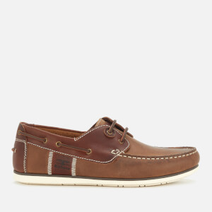 Barbour Men's Capstan Leather Boat Shoes - Beige/Brown