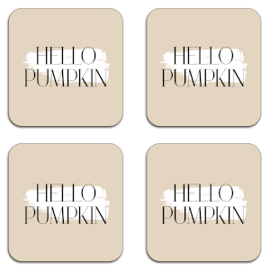 Hello Pumpkin Coaster Set