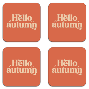 Hello Autumn  Coaster Set