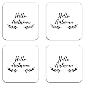 Hello Autumn Wreath Coaster Set