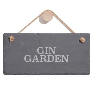 Gin Garden  Engraved Slate Hanging Sign