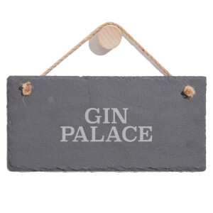 Gin Palace Engraved Slate Hanging Sign