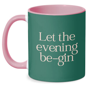 Let The Evening Be Gin Mug - White/Pink