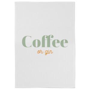 Coffee Or Gin Cotton Tea Towel