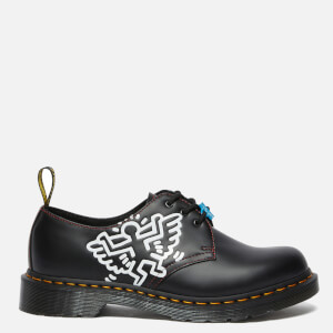 Dr. Martens X Keith Haring 1461 Smooth Leather 3-Eye Shoes - Black