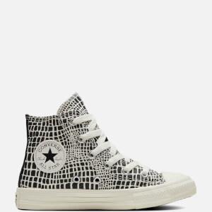 Converse Kids' Chuck Taylor All Star Wordmark Hi - Top Trainers - Black/Egret