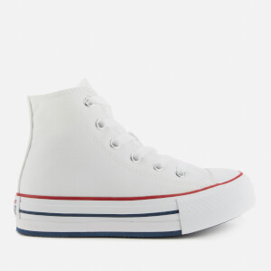 Converse Kids' Chuck Taylor All Star Eva Lift Hi - Top Trainers - White