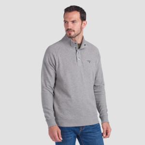 Barbour Men's Half Snap Sweatshirt - Grey Marl