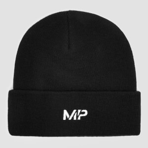 MP Embroidered Logo Beanie Hat - Black/White