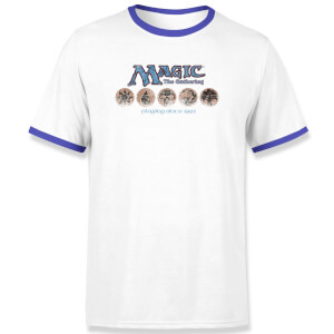 Magic: the Gathering Playing Since 1993 Unisex Ringer T-Shirt - White / Blue