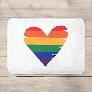 Rainbow Heart Bath Mat