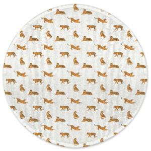 Earth Friendly Cheetahs Round Bath Mat