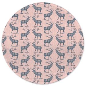 Earth Friendly Deer Round Bath Mat