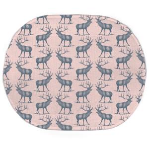 Earth Friendly Deer Oval Bath Mat