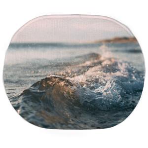 Earth Friendly Crashing Wave Oval Bath Mat