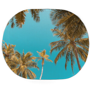 Earth Friendly Palm Trees Oval Bath Mat