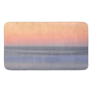 Earth Friendly Sunset Orange Blue Large Bath Mat