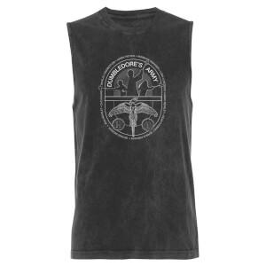 Harry Potter Dumbledores Army - Black Acid Wash Men's Vest