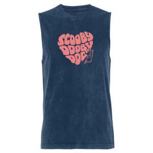 Scooby Doo Heart - Navy Acid Wash Men's Vest