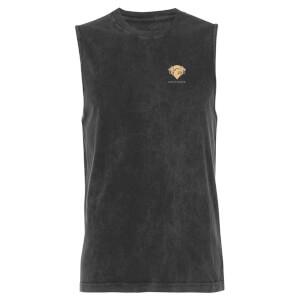 Harry Potter Gryphindor - Black Acid Wash Men's Vest