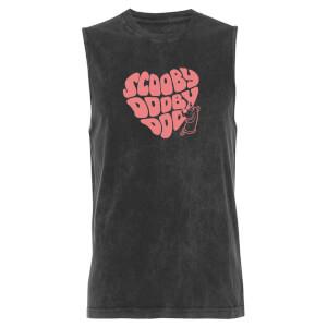 Scooby Doo Heart - Black Acid Wash Men's Vest
