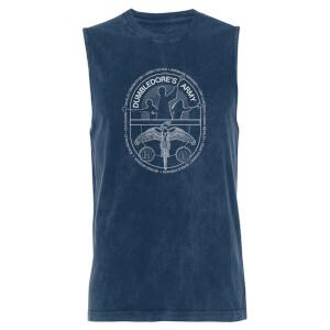 Harry Potter Dumbledores Army - Navy Acid Wash Men's Vest