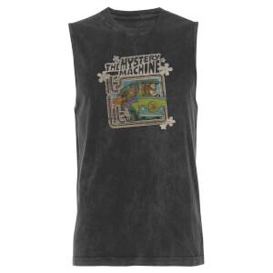 Scooby Doo Mystery Machine - Black Acid Wash Men's Vest
