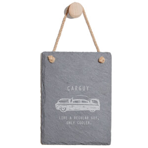 Cool Car Guy Engraved Slate Memo Board - Portrait
