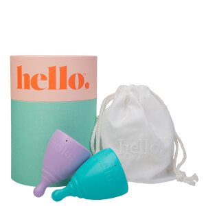 The Hello Cup Menstrual Cup Double Box XS and S-M - Lilac and Blue