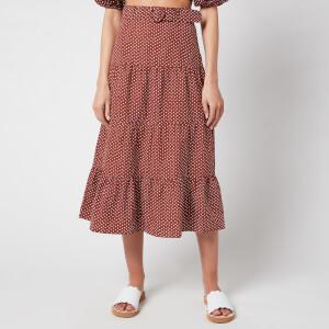 Faithfull the Brand Women's Farida Midi Skirt - Bonnie Dot Print