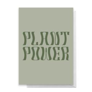 Plant Power Greetings Card