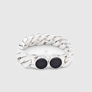 Tom Wood Men's Slim Bracelet Onyx - Sterling Silver