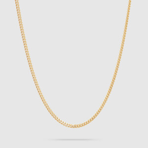 Tom Wood Men's Curb Chain M Gold - Sterling Silver/Gold