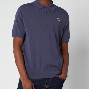PS Paul Smith Men's Zebra Logo Pullover Polo Shirt - Purple