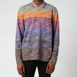 Missoni Men's Stripe Jersey Long Sleeve Polo Shirt - Multi