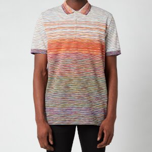 Missoni Men's Gradient Stripe Jersey Pique Polo Shirt - Multi