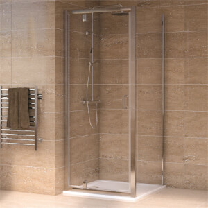 Aqualux Pivot Door 900 x 900mm Shower Enclosure and Tray Package
