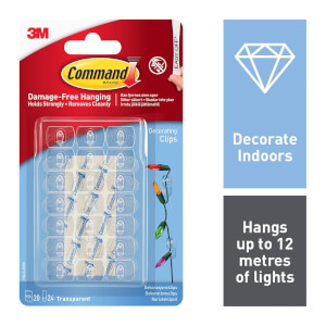 Command Clear Christmas & Decorating Clips with Clear Strips