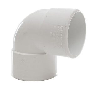 Polypipe Waste Solvent Weld Knuckle Bend - 90 Degree - 40mm