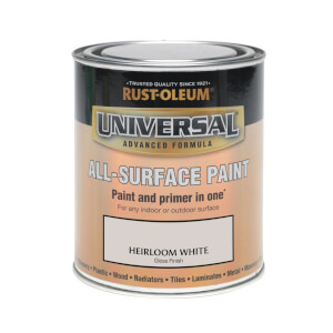 Rust-Oleum Universal All Surface Gloss Paint & Primer - Heirloom White - 750ml