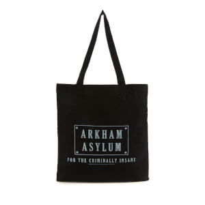 Batman Villains Arkham Asylum Tote Bag - Black