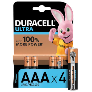 Duracell Ultra AAA Batteries - 4 Pack
