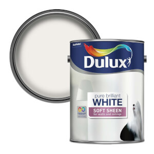Dulux Pure Brilliant White - Soft Sheen Emulsion Paint - 5L