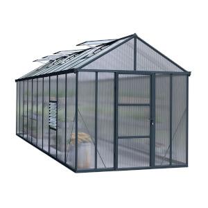 Palram Glory 8 x 20ft Grey Greenhouse