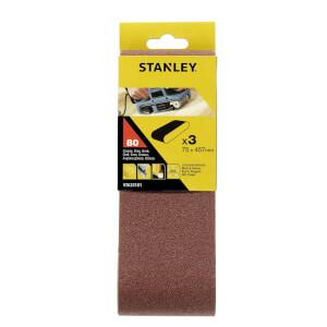 Stanley Belt Sander Belts 75x457 80G - STA33101-XJ