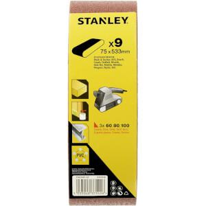 Stanley Belt Sander Belt Pack 75x533 Mix - STA33481-QZ