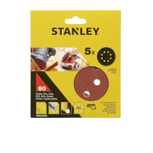Stanley 125mm ROS Sheets 80G - STA32032-XJ