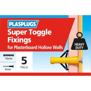 Plasplugs Super Toggle Fixings x 5